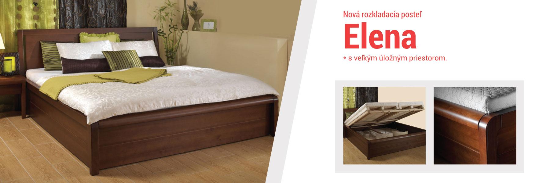 ELENA - Nová rozkladacia posteľ s veľkým úložným priestorom.