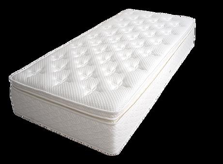 Elegance, taštičkov-pružinový matrac, obsahuje memory foam topper. Výška matraca 28 cm.